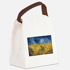 Vincent van Gogh - Wheatfield wit Canvas Lunch Bag