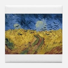 Vincent van Gogh - Wheatfield with Cr Tile Coaster