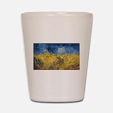 Vincent van Gogh - Wheatfield with Crow Shot Glass