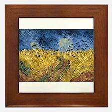 Vincent van Gogh - Wheatfield with Cro Framed Tile