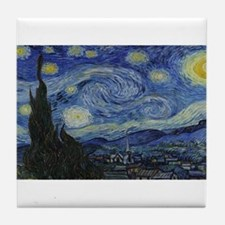 Vincent van Gogh's Starry Night Tile Coaster