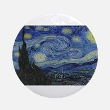 Vincent van Gogh's Starry Night Round Ornament