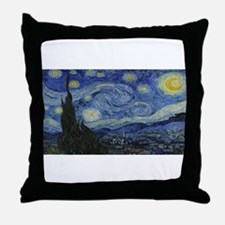Vincent van Gogh's Starry Night Throw Pillow