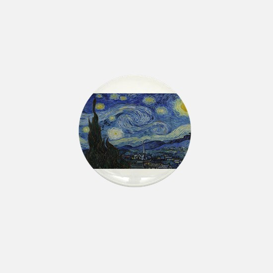 Vincent van Gogh's Starry Night Mini Button