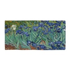Cute Irises Beach Towel