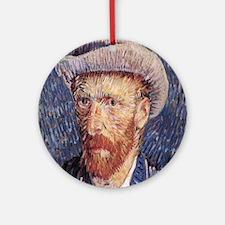 Vincent van Gogh's Self-Portrait wi Round Ornament