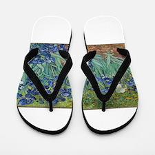 Vincent van Gogh's Irises Flip Flops
