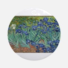 Vincent van Gogh's Irises Round Ornament