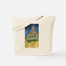 Vincent van Gogh's L'eglise d'Auvers sur Tote Bag