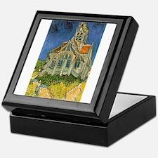Vincent van Gogh's L'eglise d'Auvers Keepsake Box