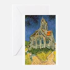 Vincent van Gogh's L'eglise d'Auver Greeting Cards