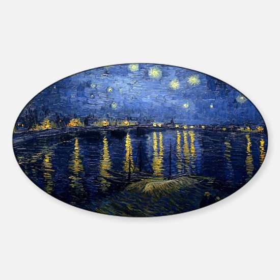 Vincent van Gogh's Starry Night Over the R Decal