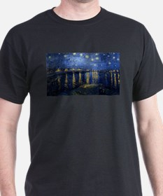 Vincent van Gogh's Starry Night Over the R T-Shirt