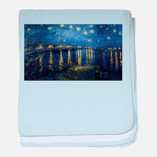Vincent van Gogh's Starry Night Over baby blanket