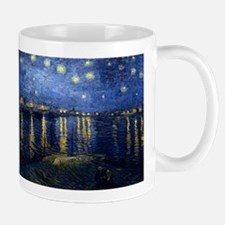 Vincent van Gogh's Starry Night Over the Rhon Mugs