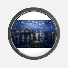 Vincent van Gogh's Starry Night Over th Wall Clock