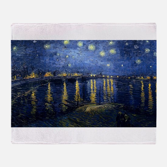 Vincent van Gogh's Starry Night Over Throw Blanket