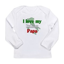 Cute Italian soccer Long Sleeve Infant T-Shirt