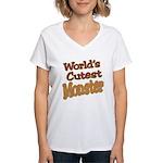 Cutest Monster Costume Women's V-Neck T-Shirt