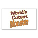 Cutest Monster Costume Rectangle Sticker