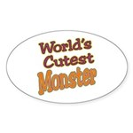 Cutest Monster Costume Oval Sticker