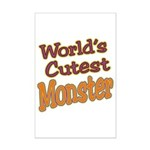 Cutest Monster Costume Mini Poster Print