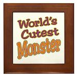 Cutest Monster Costume Framed Tile