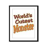 Cutest Monster Costume Framed Panel Print