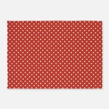 Red With White Polka Dots 5'x7'area Rug