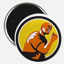 Man Fist Pump Low Angle Retro Magnets
