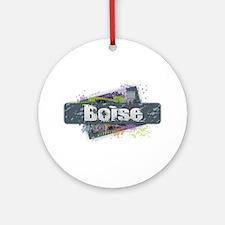 Boise Design Round Ornament