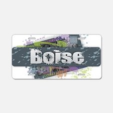Boise Design Aluminum License Plate