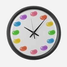 12_jelly_beans01circle.png Large Wall Clock