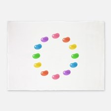 12_jelly_beans01circle.png 5'x7'Area Rug