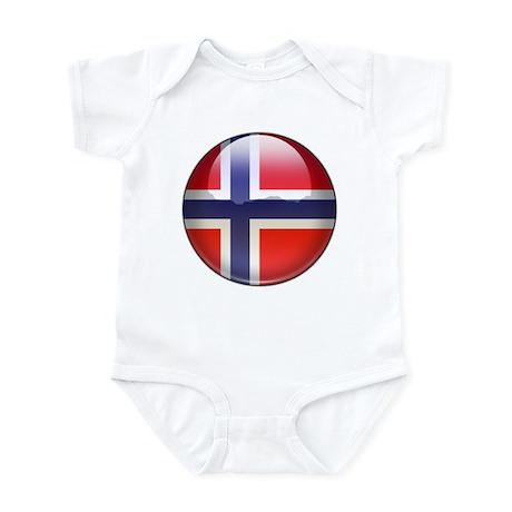 Norway Flag Jewel Infant Bodysuit