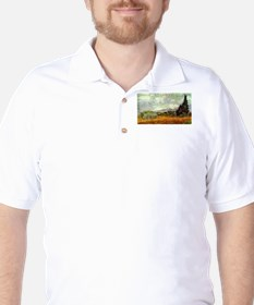 Vincent van Gogh's Wheat Field with Cyp T-Shirt