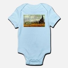 Vincent van Gogh's Wheat Field with Cypr Body Suit