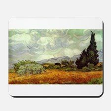 Vincent van Gogh's Wheat Field with Cypr Mousepad