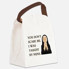 TAUGHT BY NUNS Canvas Lunch Bag