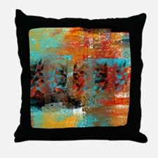 Unique Red abstract art Throw Pillow
