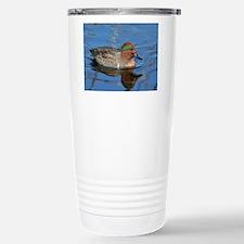 Male green wing teal Travel Mug
