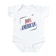 100% American Infant Bodysuit