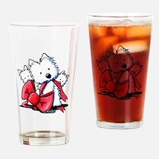 kiniart westies best Drinking Glass