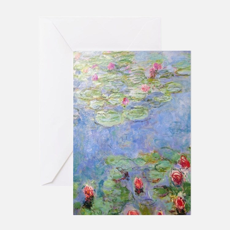 Cute Water lilies Greeting Card