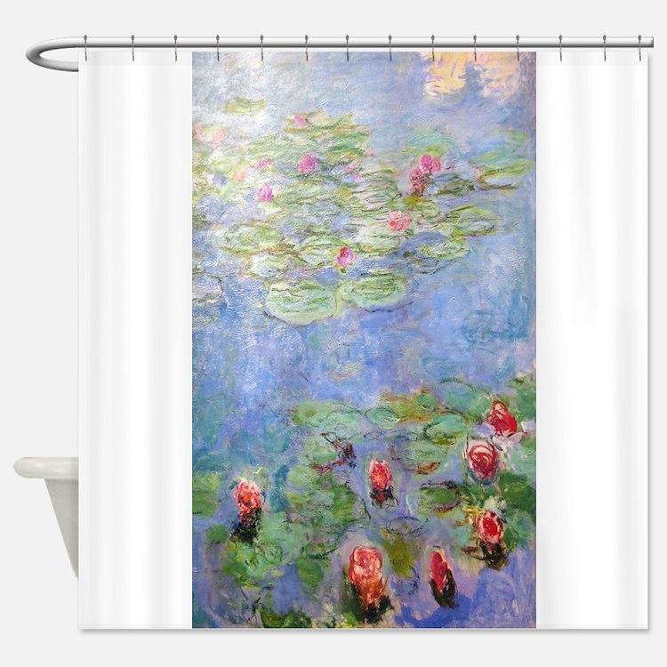 Claude Monet's Water Lilies Shower Curtain