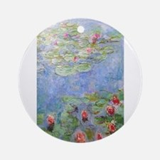 Claude Monet's Water Lilies Round Ornament