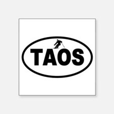 "Cute Taos nm Square Sticker 3"" x 3"""