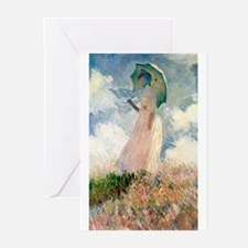Claude Monet's Woman with a Parasol Greeting Cards