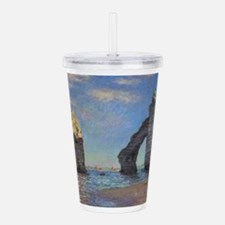 Claude Monet's The Cli Acrylic Double-wall Tumbler