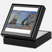 Claude Monet's The Cliffs at Etretat Keepsake Box